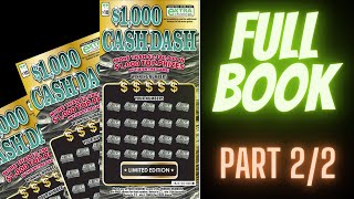 ♛ VA Scratch King ♛ - Full Book of $1,000 Cash Dash Tickets   Part 2 of 2