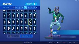 *UPDATED* Fortnite DJ Yonder Skin Outfit Showcase with All Dances & Emotes