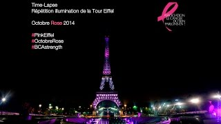Time-Lapse répétition de l'illumination de la Tour Eiffel - Octobre Rose 2014 Thumbnail