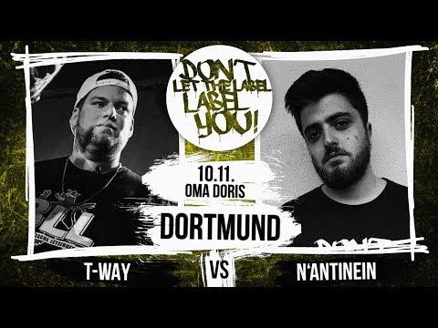 T-Way Vs N'antinein // DLTLLY RapBattle (Dortmund // Day1) // 2018