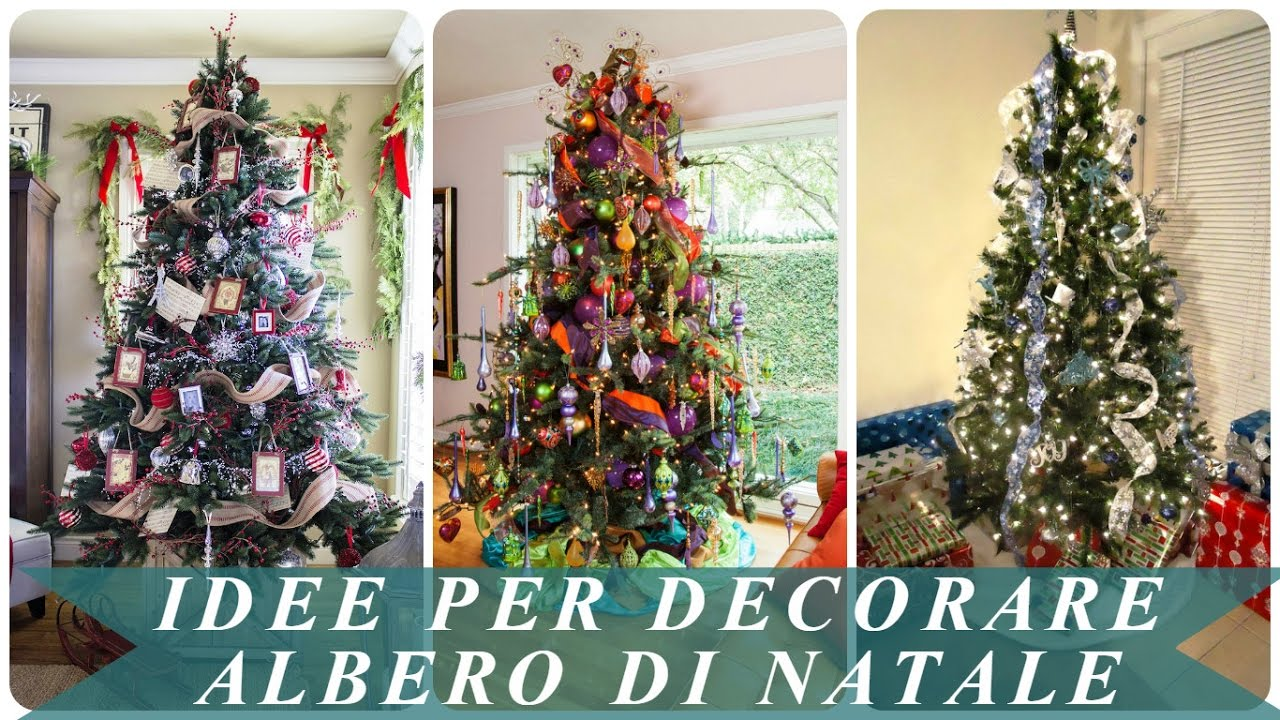 idee per decorare albero di natale youtube