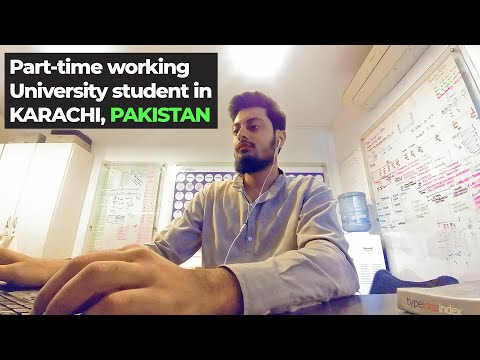 Day in life of a working student in Karachi | Pakistan 2020