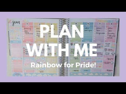 ERIN CONDREN // Rewind Plan With Me - Rainbow for Pride!