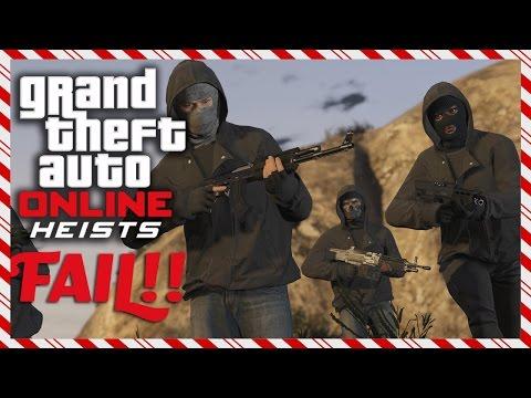 GTA V Heist Online - FUNNY HEIST FAILURE With StaxMontana, BodyBag513 & BadBoy4Lyfe (Live Stream)