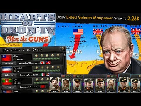 Exiled Divisions Only! Making Everyone Else Fight the War for us - Hearts of Iron 4 Man the Guns |
