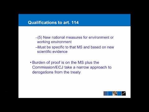EU Law - The Single Market