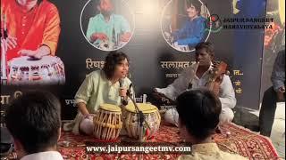 Tabla workshop by Princes Rimpa Siva at jaipur sangeet Mahavidyalaya