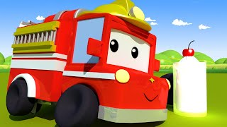 Gemeine Feuerwehrmänner - Lerne mit den kleinen Trucks 👶 🚚 Lehrreiche Cartoons für Kinder