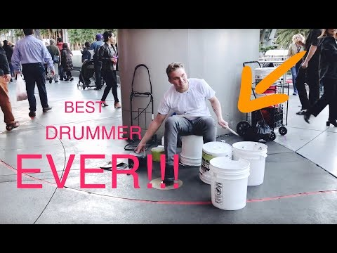 "Insane street performer - ""bucket boy"" Matthew Pretty"