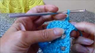 How to Crochet the Crocodile / Lettuce Stitch (LEFT HANDED)