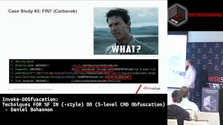 #HITB2018AMS D1T2 - Techniques FOR %F IN (-style) DO (S-level CMD Obfuscation) - Daniel Bohannon