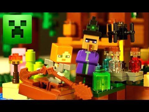 Lego Minecraft The Witch Hut 21133 - Хижина Ведьмы Лего Майнкрафт 2017 + Мультики и Обзор на русском