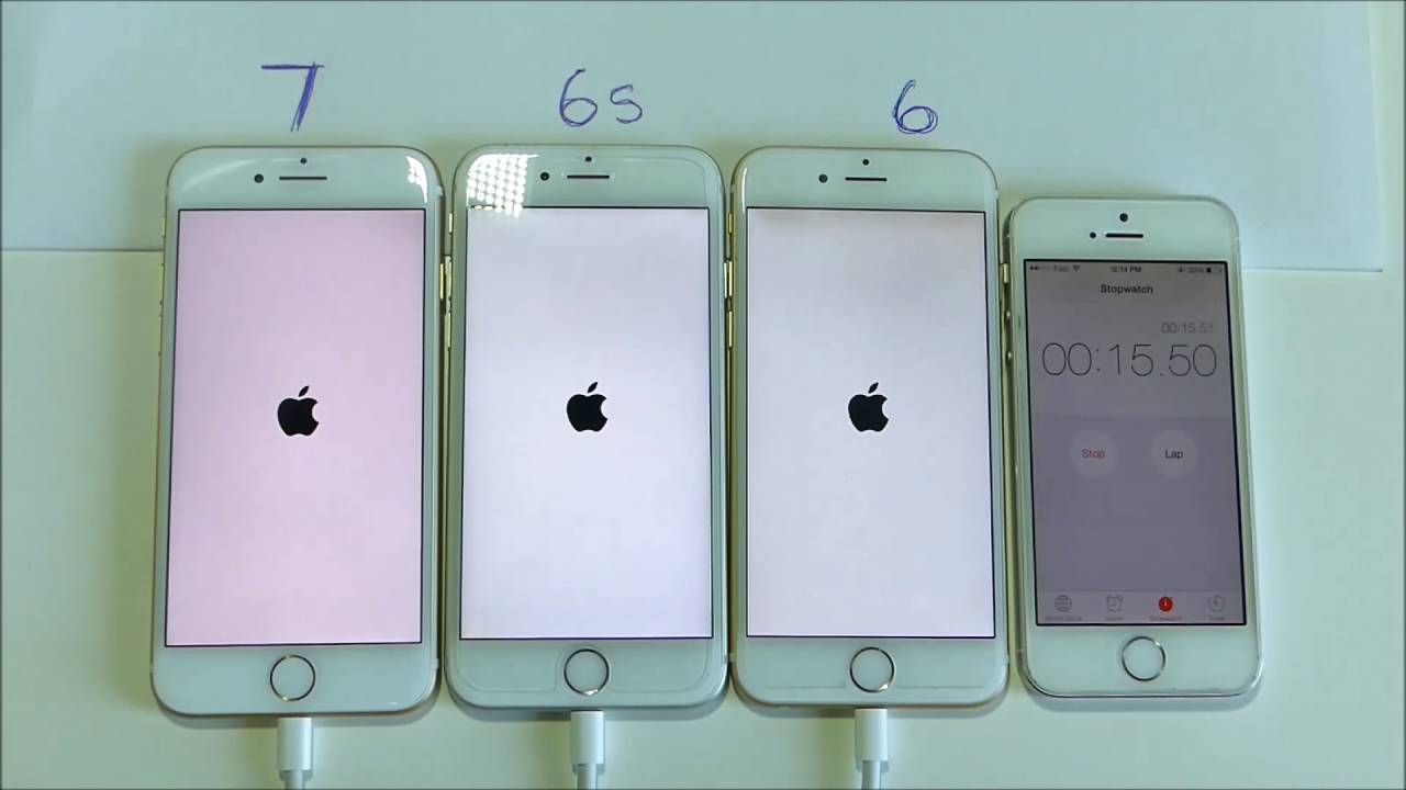 iphone 6 vs iphone 6s iphone 6 vs 6s vs 7 power and boot up test 1322