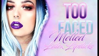 Too Faced Cosmetics | Melted Latex Lipsticks | Lip Swatches | Victoria Lyn Beauty