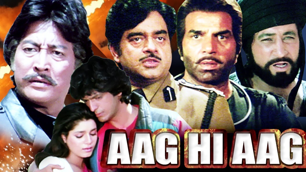 Download Aag Hi Aag Full Movie | Dharmendra Hindi Action Movie | Shatrughan Sinha | Bollywood Action Movie