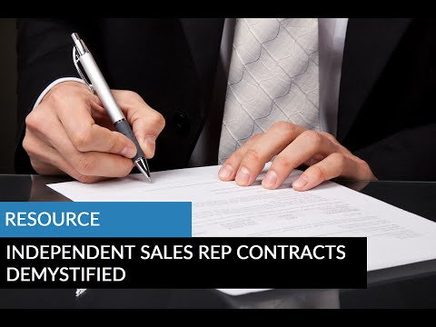 Independent Sales Rep Contracts Demystified