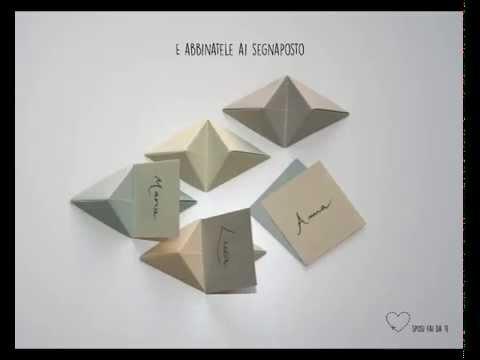 Origami Segnaposto Matrimonio.Tutorial Segnaposto Origami Youtube