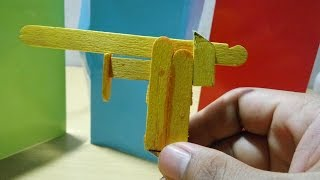 cara membuat pistol dari stik ice cream   [How to Make]