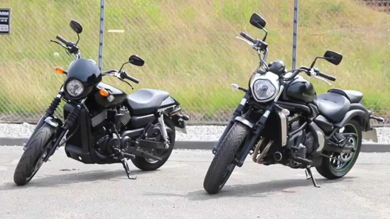 Test Kawasaki Vulcan S Vs Harley Davidson 750 Street Youtube