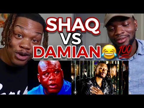 DAMIAN LILLARD .VS. SHAQUILLE ONEAL RAP BATTLE - REACTION
