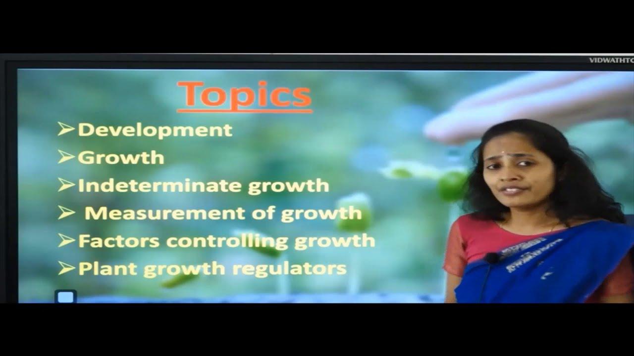 I PUC | Biology | Plant Growth and Development - 01