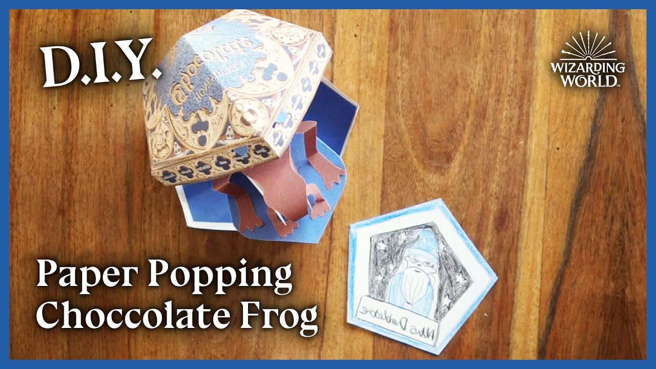 Craft a Paper Popping Chocolate Frog   Make It Magic