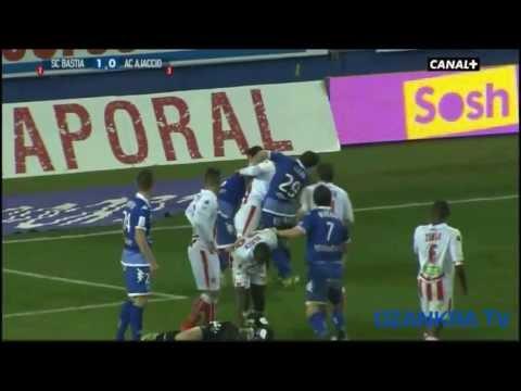 Les bagarres, discussions, carton rouges de Sporting Club de Bastia saison 2012-2013 | 720p HD