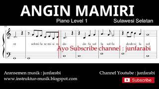 not balok angin mamiri - piano level 1 - lagu daerah sulawesi selatan - doremi / solmisasi
