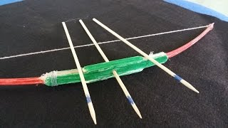 어떻게 활을 만드는 방법 | 아이스 캔디 막대기와 이쑤시개를 사용하여
