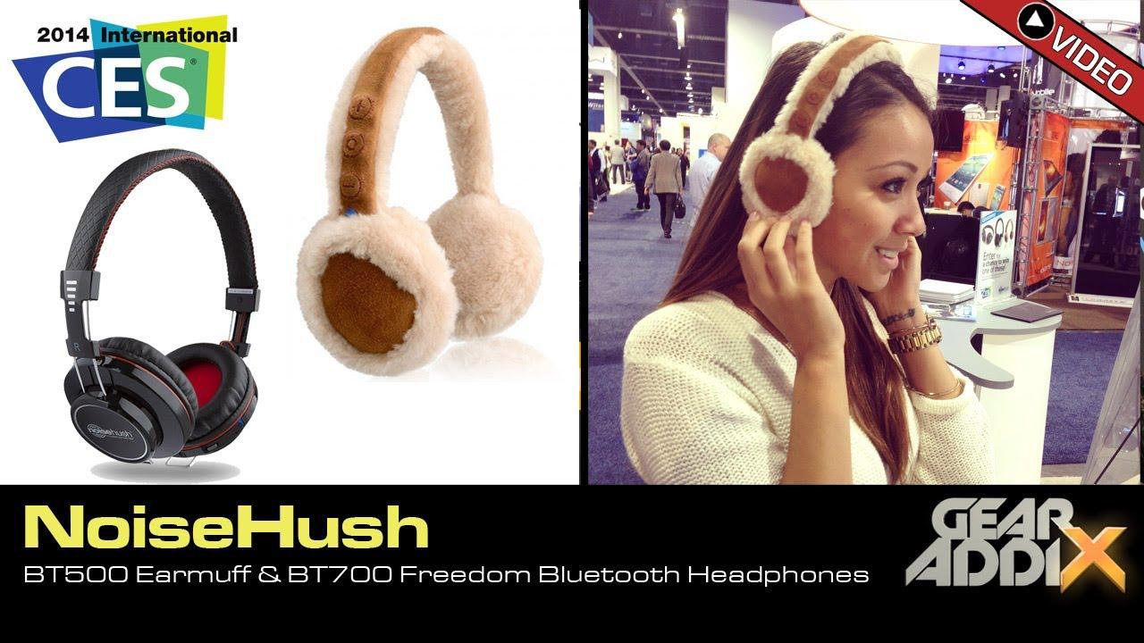 Noisehush Bt500 Earmuff Bt700 Bluetooth Over The Ear Headphones Ces 2014 Youtube