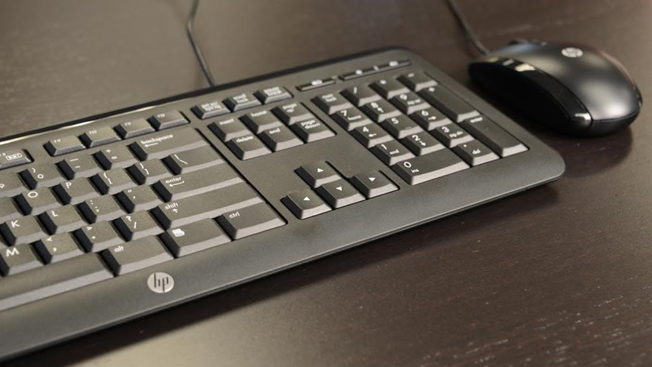 7490274ebaf HP Wired Keyboard Mouse Combo Unboxing C2500 - YouTube