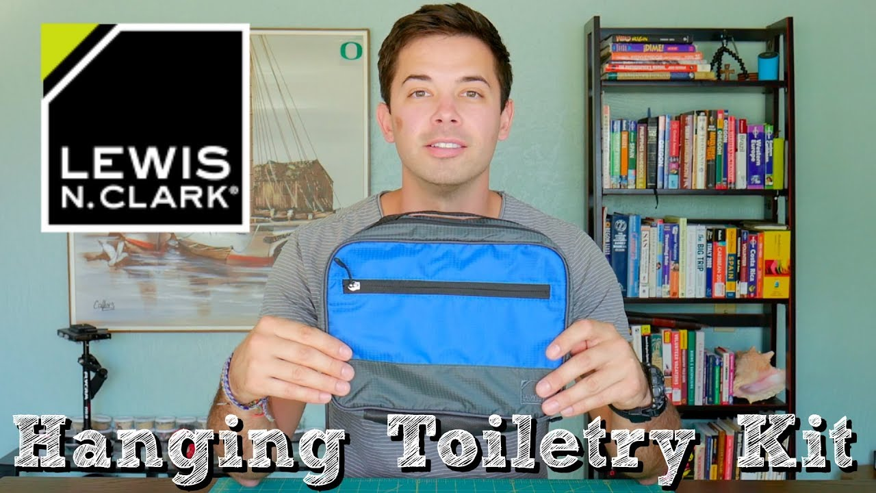 4e4c2e801fcdaa Lewis N. Clark Hanging Toiletry Kit // The Discovery - YouTube