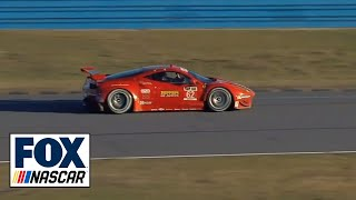 Memo Gidley and Matteo Malucelli Crash - Rolex 24 at Daytona 2014 - TUDOR Championship