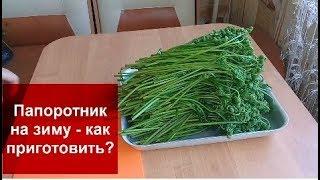 КАК ЗАМОРОЗИТЬ ПАПОРОТНИК ОРЛЯК НА ЗИМУ?Домашняя кухня СССР