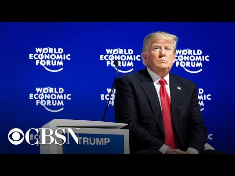 President Trump Speaks At The World Economic Forum in Davos, Switzerland