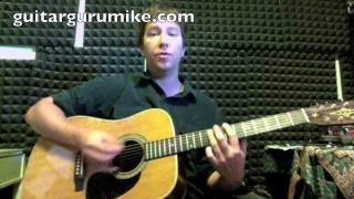 """How To Play """"Crystalised"""" by The xx Guitar Tutorial (Baria's rhythm part)"""