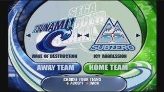 Sega Soccer Slam - Tsunami VS Sub Zero