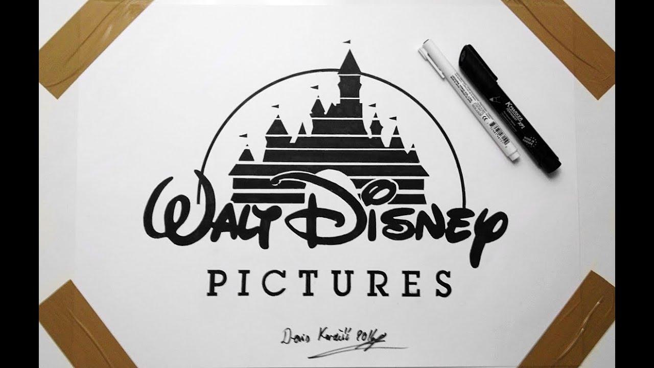 disney logo drawing fan art cartoon
