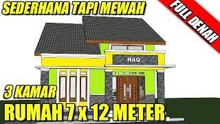 Desain Rumah Minimalis Sederhana 3 Kamar Tidur 1 Lantai Di Lahan 7 X12 Meter Full Denah Tampak Youtube