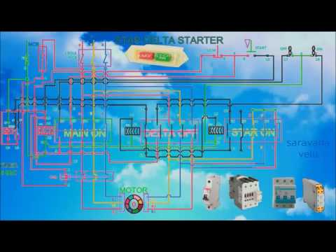 5 star delta starter control wiring diagram how to work a star delta starter with control wiring and ...