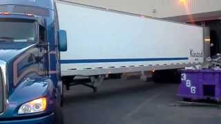 Young Female Backing a Manual 10 Spd- Semi Truck
