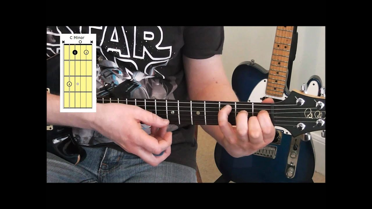 How To Play Open Minor Chords Cm Am Gm Em Dm On Guitar Youtube