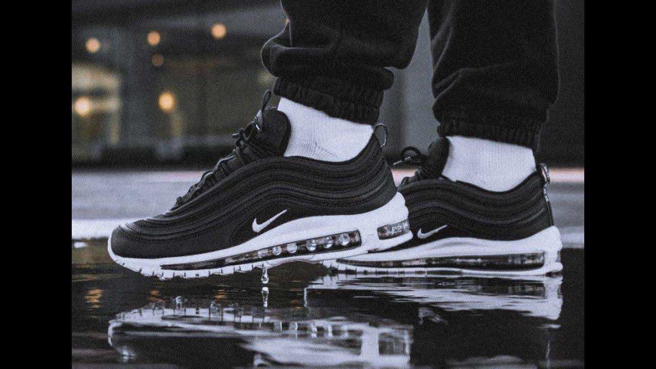 air max 97 on feet black