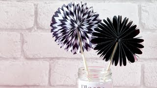 How to make a paper fan (craft tutorial) Thumbnail