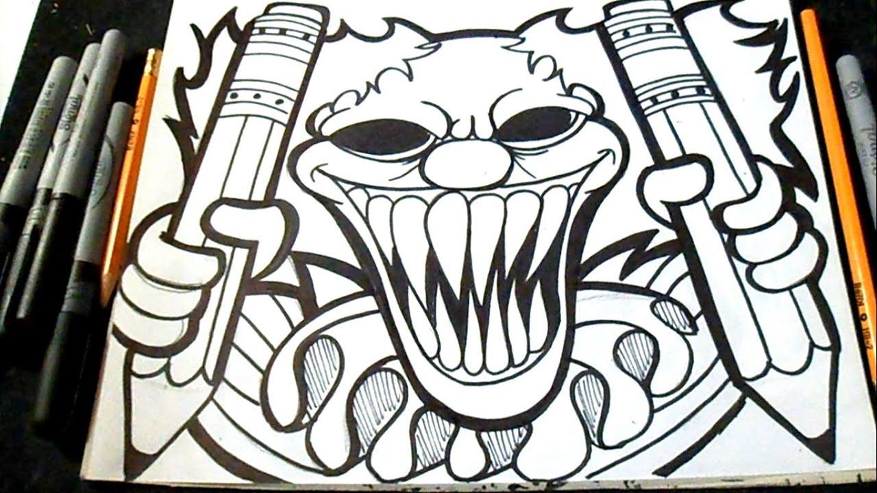 Dessin Clown avec des crayons Graffiti YouTube