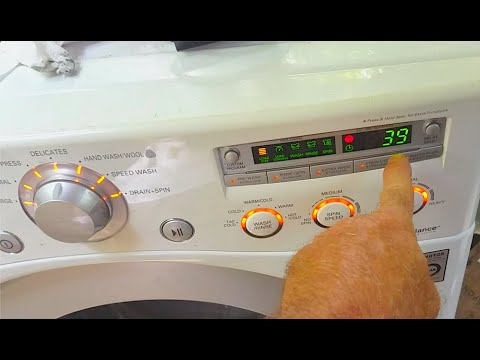 Lg Washer Test Mode Sequence Wm2050cw Youtube