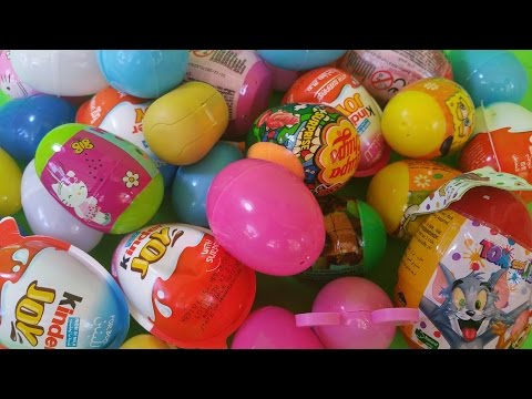 Easter Eggs Surprise -Chupachups Lollipop Surprise, KinderJoy, DisneyPrincess, SpongeBob, Zaini