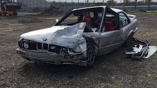 Watkins Glen HPDE Crash BMW E30 318is s52