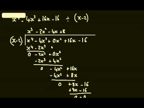 Core 2 - Algebra and Functions (1) Polynomial Division & Equating Coefficients - C2 Maths AS