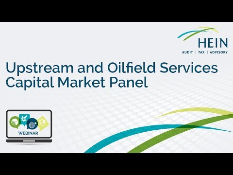 Upstream and Oilfield Services Capital Market Panel Webinar